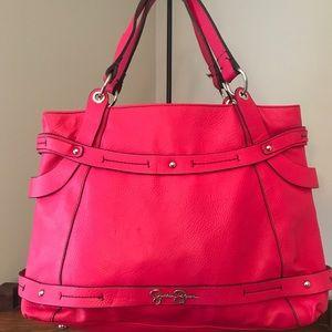 Jessica Simpson hot pink satchel